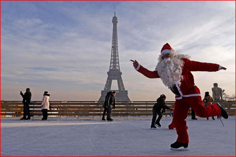 Санта-Клаус в Париже  (гей блюсик 10060)