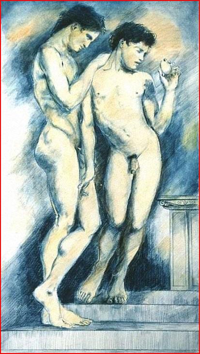Гомоэротизм в живописи  (гей блюсик 10839)