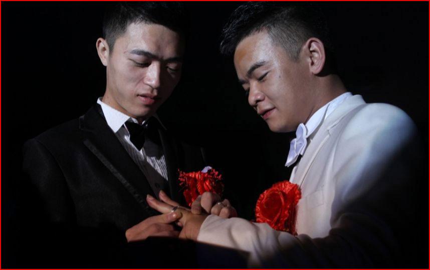 Китайская гей свадьба  (гей блюсик 10848)