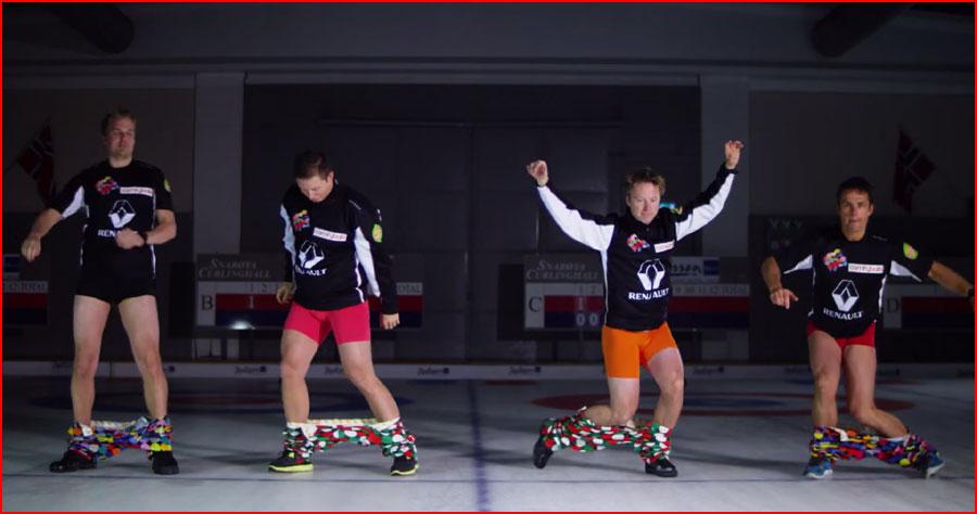 Норвежские кёрлингисты надевают брюки без рук (видео)  (гей блюсик 11468)