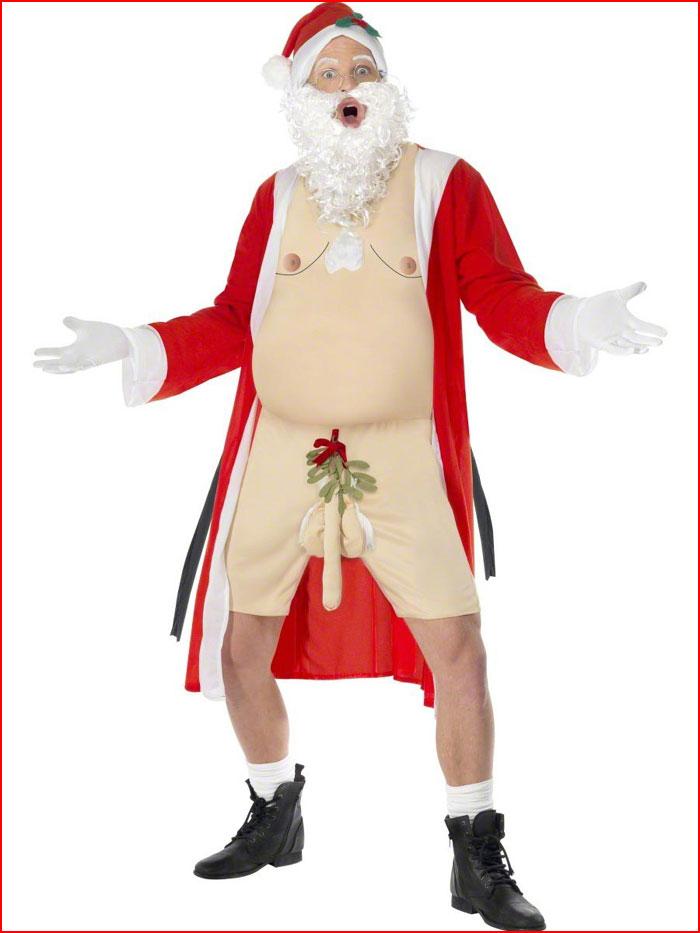 В эротическом костюме Деда Мороза