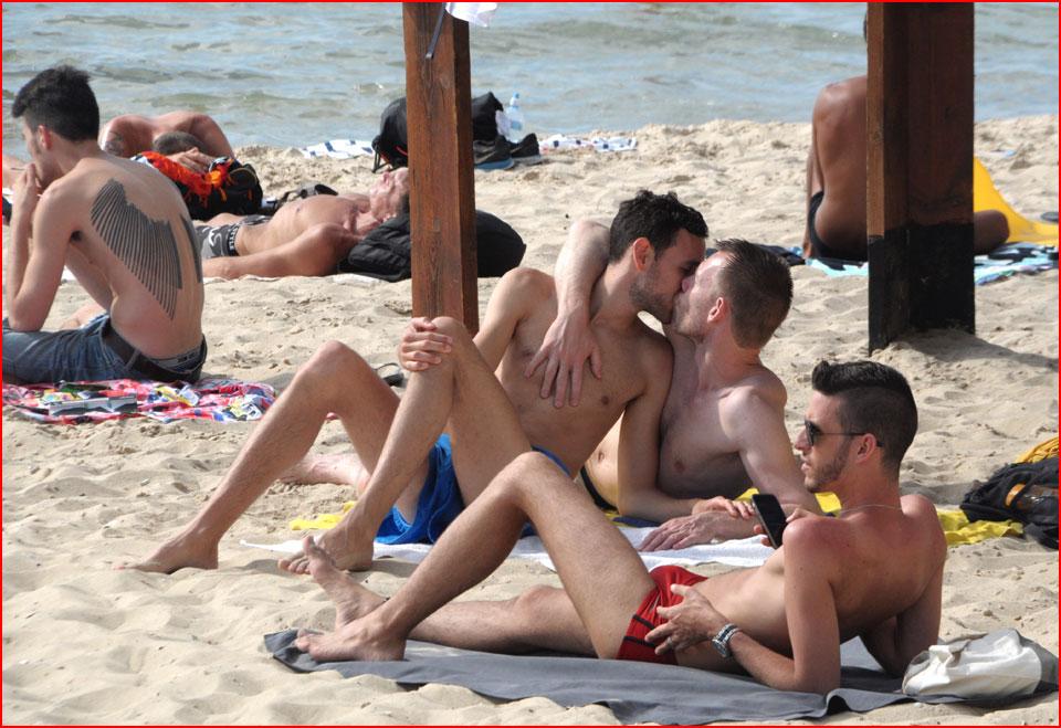 Секс на пляже буграшов тель авив