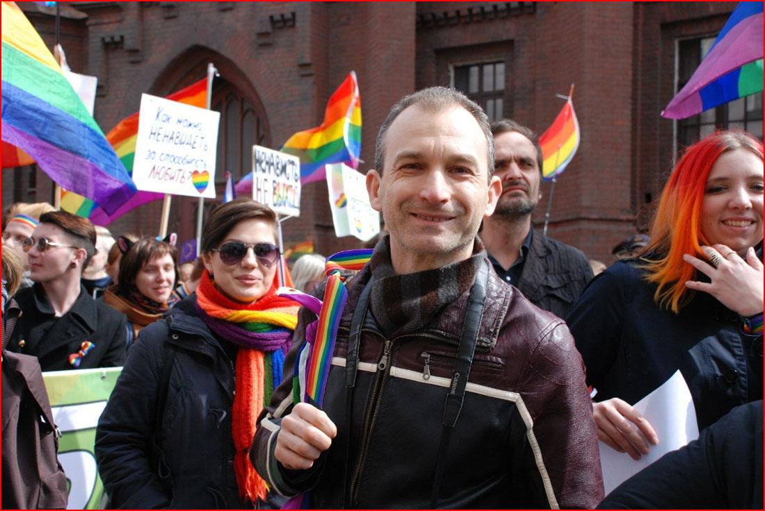 Первомай 2015 в Петербурге: Радужная колонна