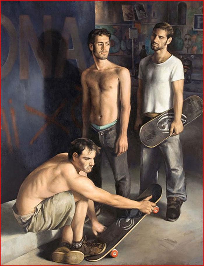Работы художника Питера Черчера  (гей блюсик 13379)