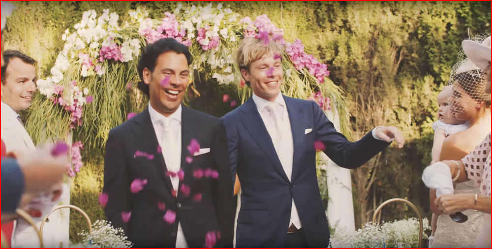 Bart & Frank. Стильная гей свадьба в Испании  (гей блюсик 14948)