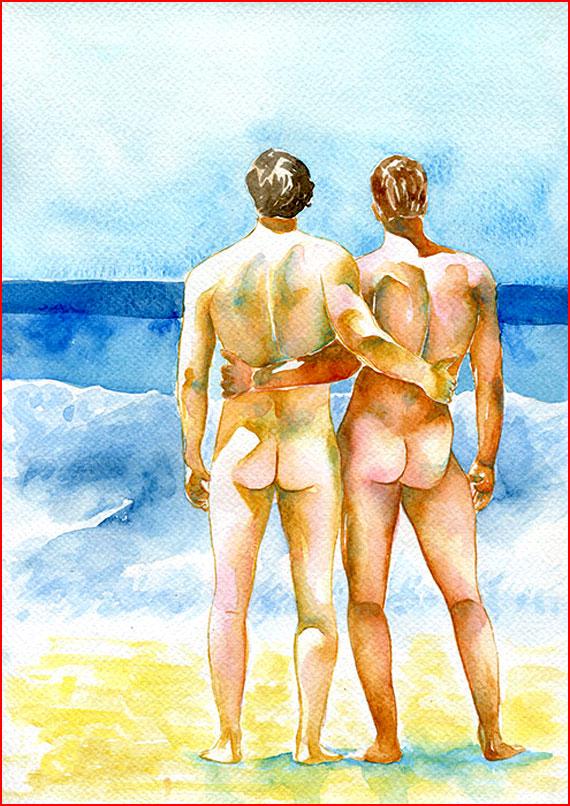 Пляжные наброски  (гей блюсик 15336)