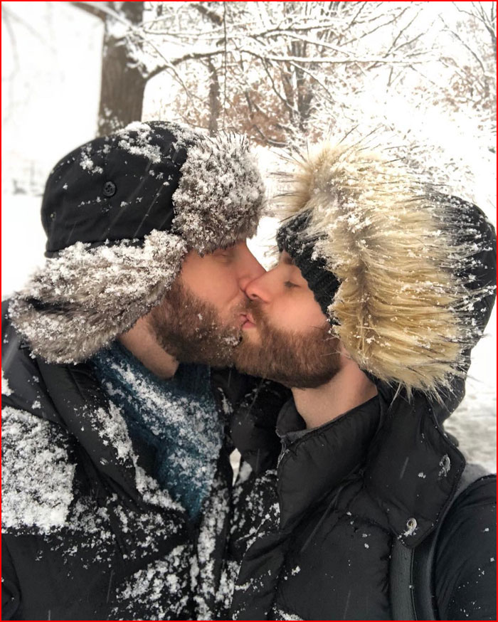 Зимний поцелуй  (гей блюсик 16116)