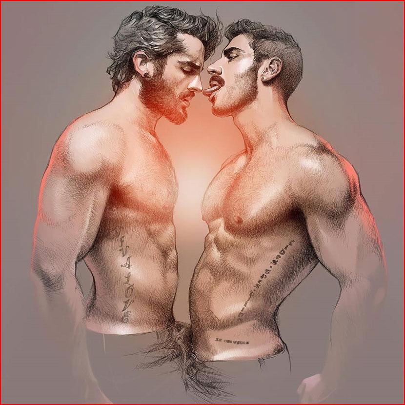 Эротические рисунки  (гей блюсик 16187)