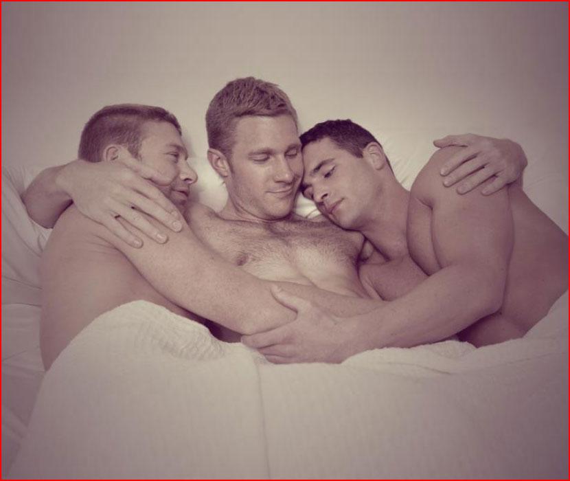 Втроём в постели  (гей блюсик 16297)