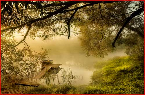 Там где тихо плещет речка, где оранжевый закат  (гей блюсик 1791)