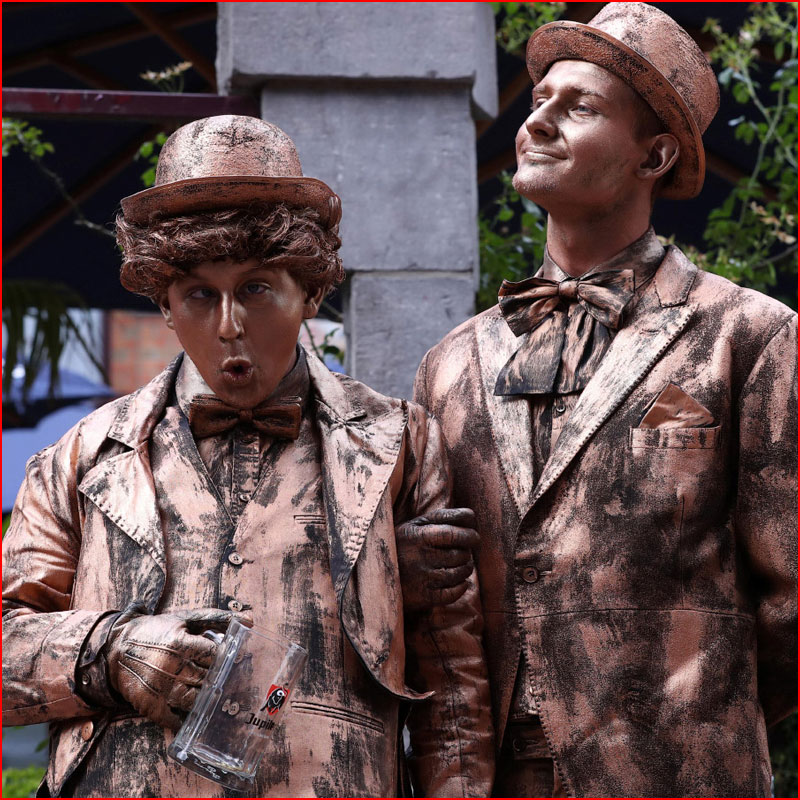 Живые статуи  (гей блюсик 18235)