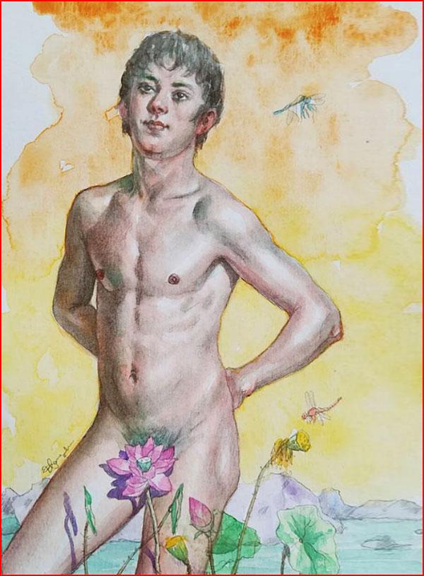 Произведения китайского художника Хунтао Хуан  (гей блюсик 18255)