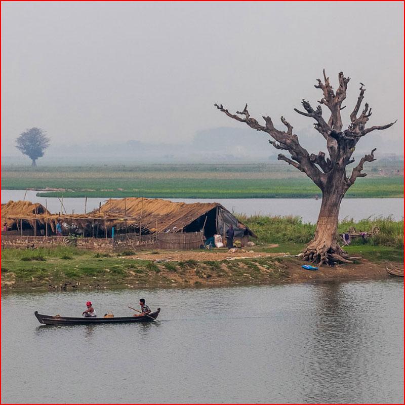Знаменитый мост U Bein в Бирме  (гей блюсик 18375)