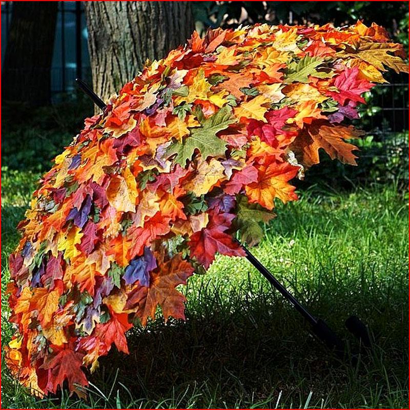 Осень с зонтами. Фотозарисовка  (гей блюсик 18411)