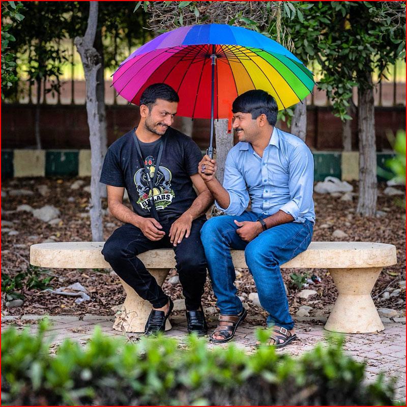 Под радужным зонтом  (гей блюсик 18428)