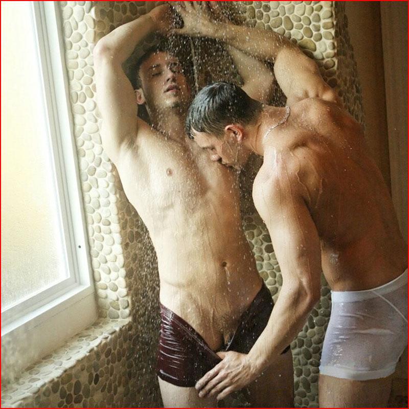Холодный душ для горячих парней  (гей блюсик 18856)