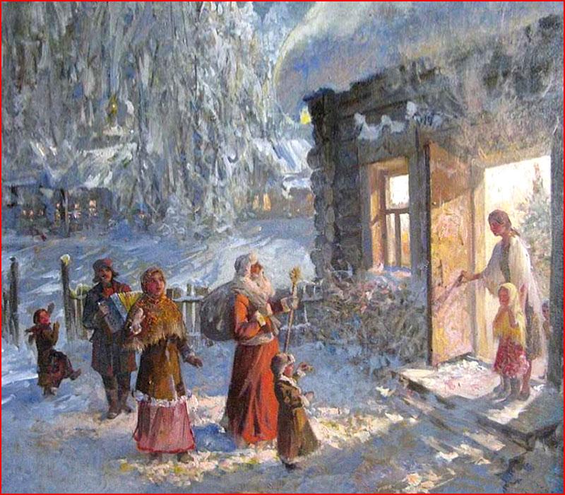 Весёлое Рождество на картинах художников  (гей блюсик 18867)