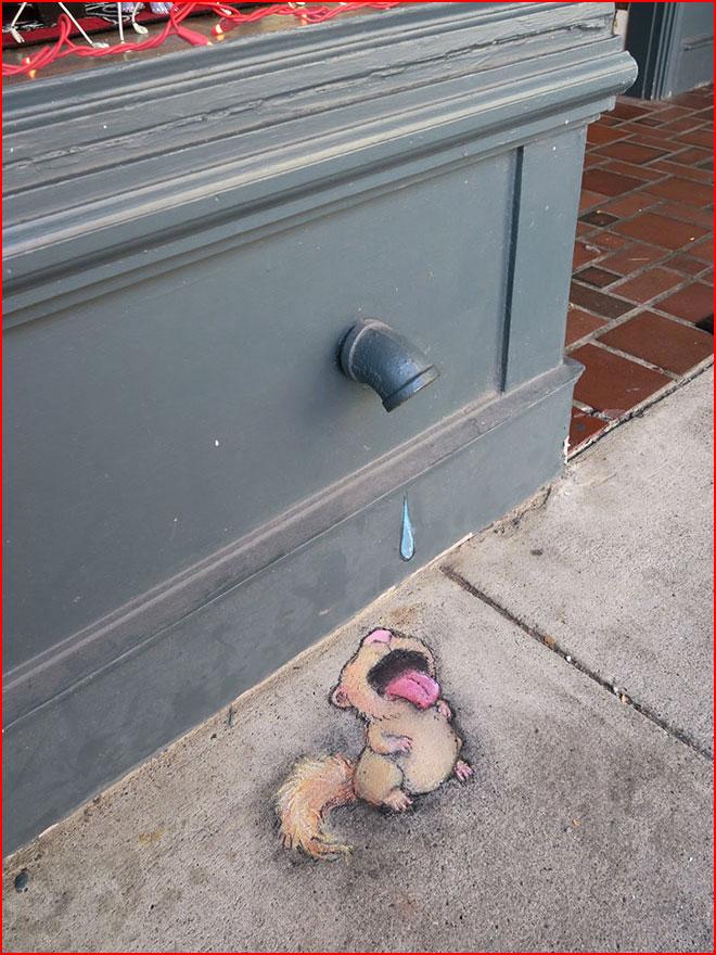 3D Chalk Street Art от Дэвида Зинна  (гей блюсик 19543)