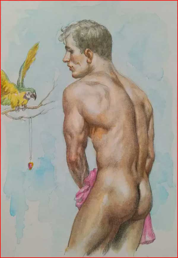 Гомоэротика в рисунках Хунтао Хуанга из Гонконга  (гей блюсик 19827)