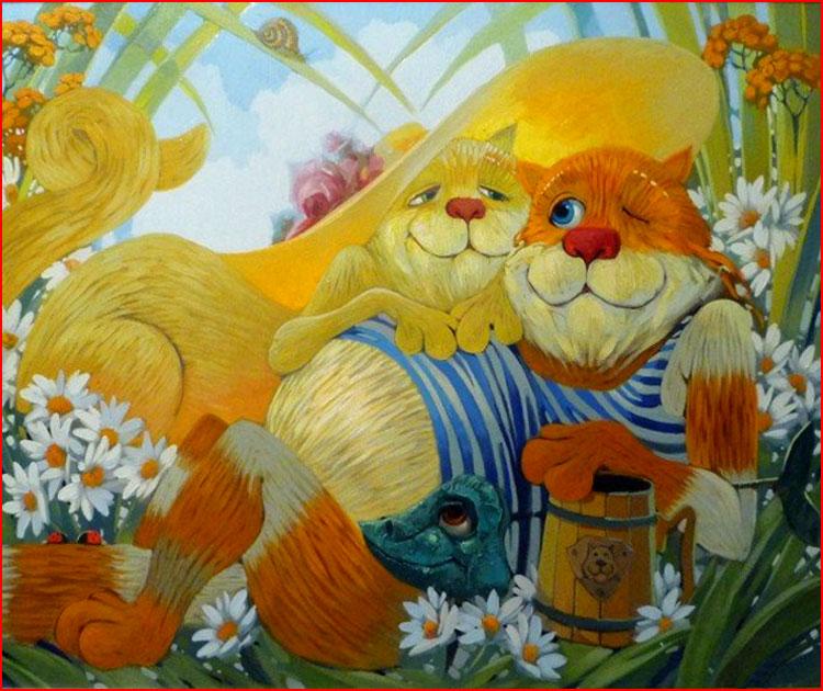 Добродушные коты Антона Горцевича  (гей блюсик 19963)