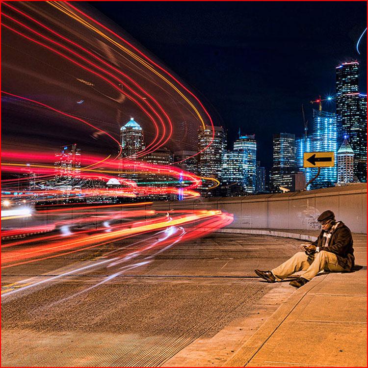 Ночной город в фотографии Tosin Arasi