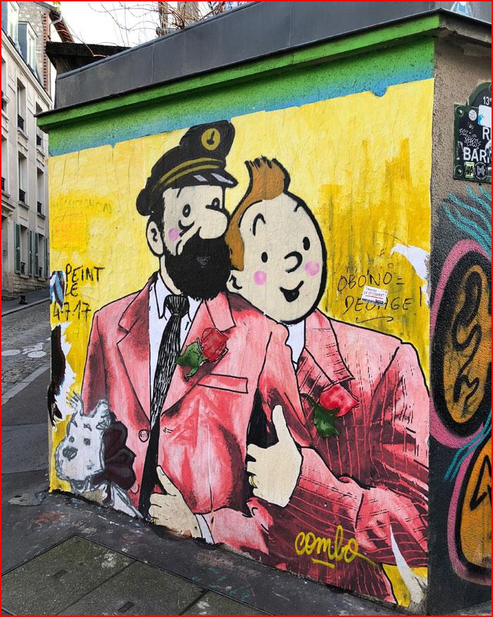 Уличный гей-арт  (гей блюсик 20235)
