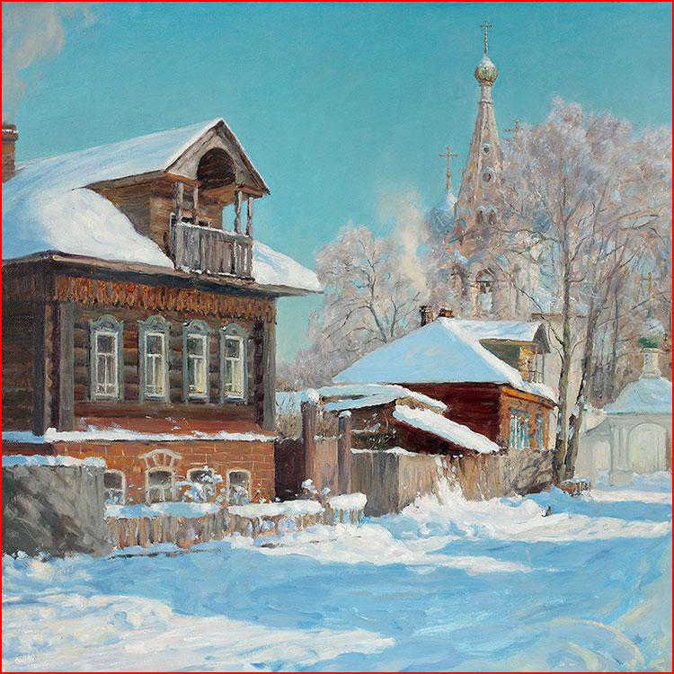 Зима в картинах художника Молчанова Олега  (гей блюсик 20263)