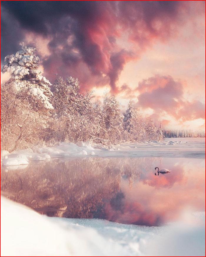Зимние пейзажи Юусо Хямяляйнена  (гей блюсик 20291)
