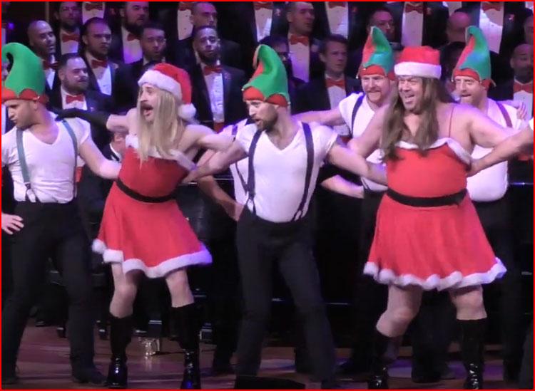 Рождественское выступление Бостонского хора геев (видео)  (гей блюсик 20304)