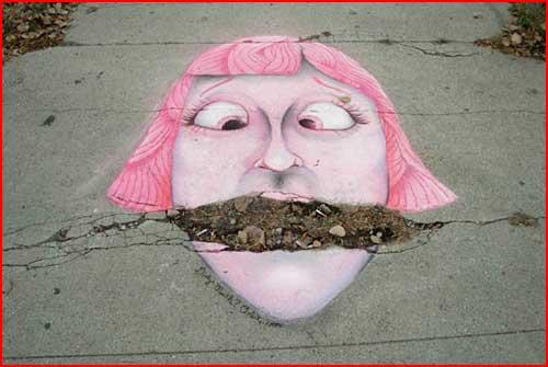 Классный уличный креатив  (гей блюсик 2357)
