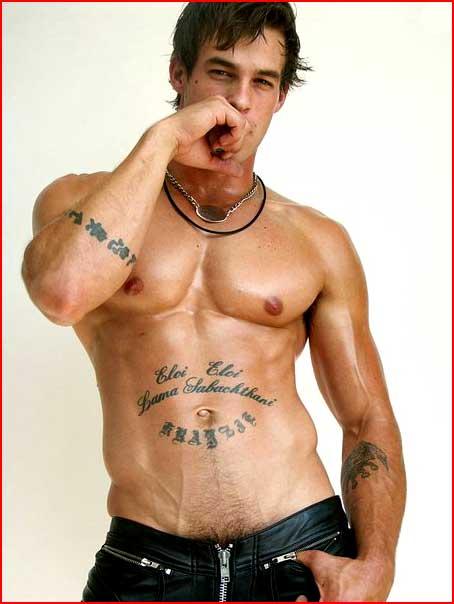 Парень с татуировочкой  (гей блюсик 3190)