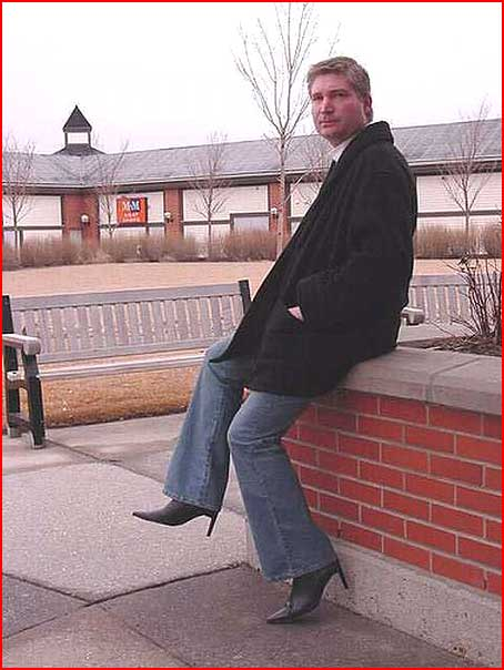 Фото мужчин в женской обуви