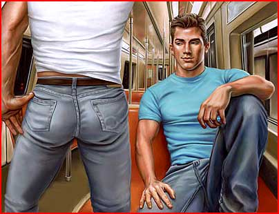 Художник Майкл Брюэ.  Моя страсть - обнажённые парни  (гей блюсик 4291)