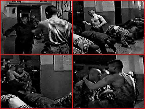 Дедовщина в армии (видео)  (гей блюсик 4788)