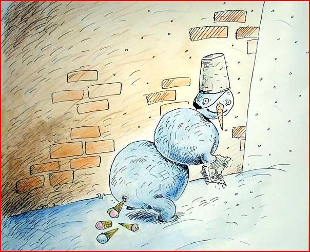 Новогодние карикатуры  (гей блюсик 7163)