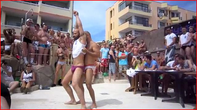 Пляжная гей-вечеринка Маспаломас-2012 (Гран-Канария)  (гей блюсик 7740)