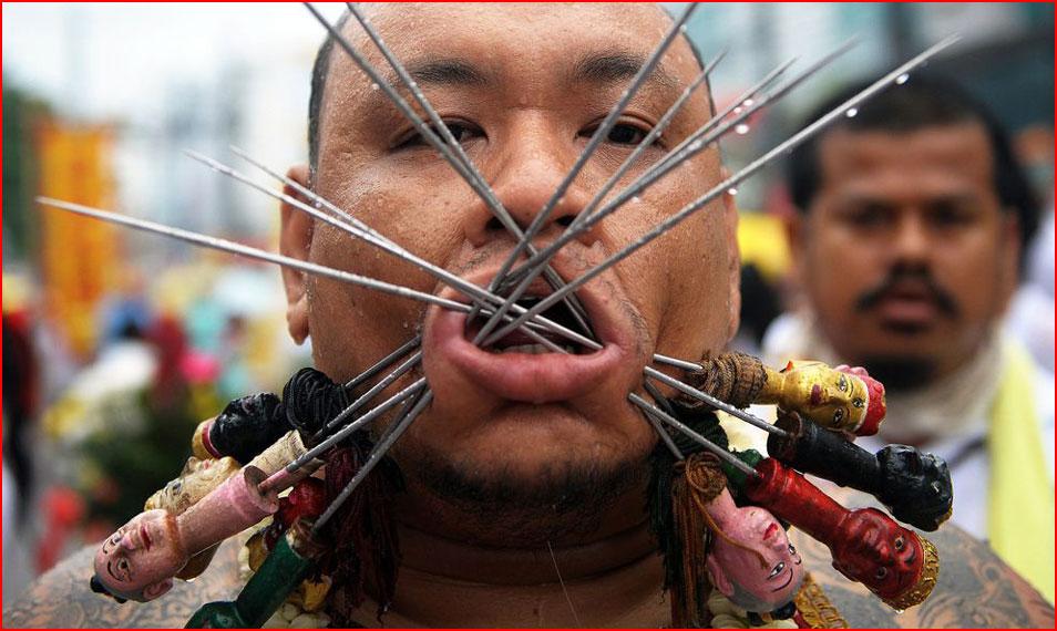 Шокирующие фото с фестиваля вегетарианцев  (гей блюсик 9731)