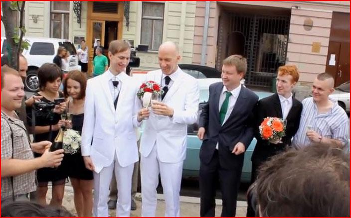Гей-свадьбы в Петербурге (видео)  (гей блюсик 9796)
