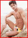 У моря на песке  (гей фото, блюсик 14221)