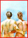 Пляжные наброски  (гей фото, блюсик 15336)