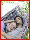 Влюблённые в гамаке  (гей фото, блюсик 16136)