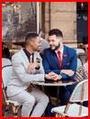 Влюблённые в кафе  (гей фото, блюсик 16557)