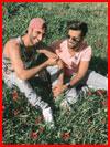 Парни на лужайке  (гей фото, блюсик 16692)
