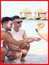 Две влюблённые пары  (гей фото, блюсик 16948)