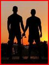 Силуэт влюблённых  (гей фото, блюсик 17760)