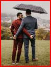 Двое под зонтом  (гей фото, блюсик 17780)