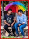 Под радужным зонтом  (гей фото, блюсик 18428)