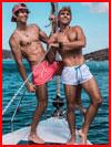Двое на яхте  (гей фото, блюсик 19305)