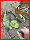 3D Chalk Street Art от Дэвида Зинна  (гей фото, блюсик 19543)