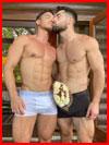 Цветы и поцелуй любимому  (гей фото, блюсик 21217)